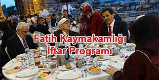 Fatih kaymakamlığı şehidler iftar sofrası