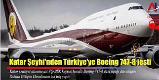 Katar Şeyhiden Erdoğana VİP uçak