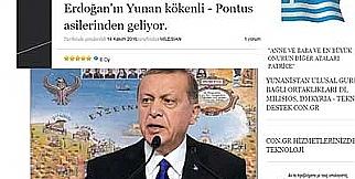Yunan medyasında RT. Erdoğan