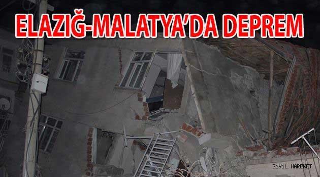 Elazığda 6.6 deprem Binalar yıkıldı