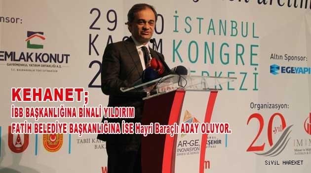 Hayri Baraçlı AKP Fatih Bld. Başkan Adayı oldu