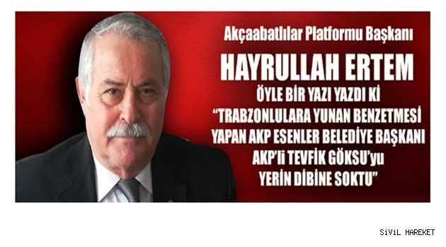 Göksu'ya Soruyorum; Trabzonlular Yunan'mıdır..?