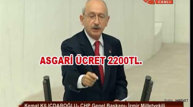 KILIÇTAROĞLU ASGARİ ÜCRETİ 2200 TL YAPTI