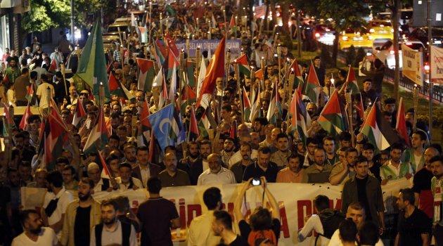Kudüs'ün özgürlüğü için yürüdüler