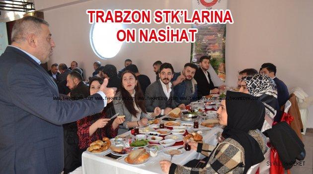 Trabzon STK'larına Sivil toplum mesajları