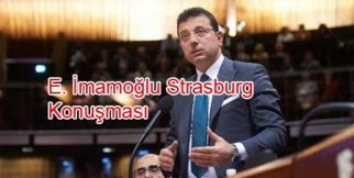 E. İmamoğlu Avrupa Konseyi Konuşması