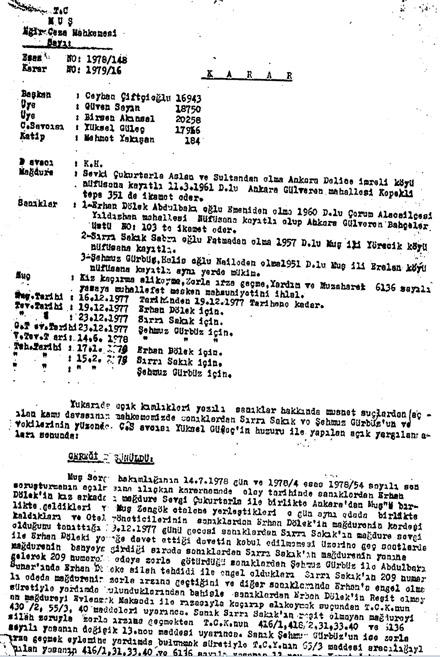 BDP'li Sırrı Sakık'ın tecavüz belgesi!!