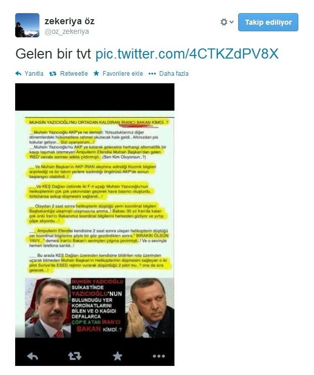 Savcı Zekeriye Öz'den Muhsin Yazıcıoğlu ölümüyle ilgili belge!